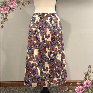 MAKE AN OFFER ;) Paisley print maxi skirt